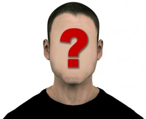 Unknown Generic Man with Blank Empty Anonymous Face